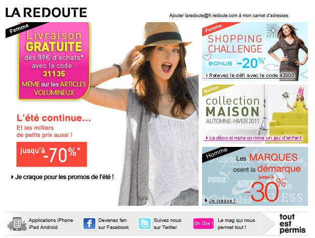 Galerie De Newsletters La Redoute La Redoute 07 08 2011