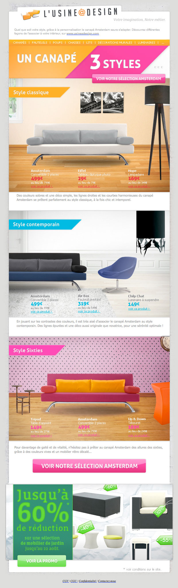 galerie de newsletters de la marque the mailing book. Black Bedroom Furniture Sets. Home Design Ideas