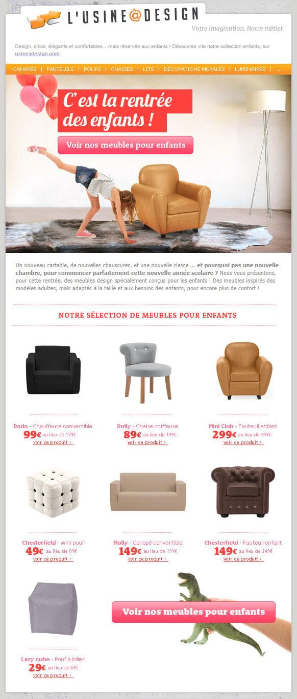 galerie de newsletters l 39 usine design l 39 usine design. Black Bedroom Furniture Sets. Home Design Ideas