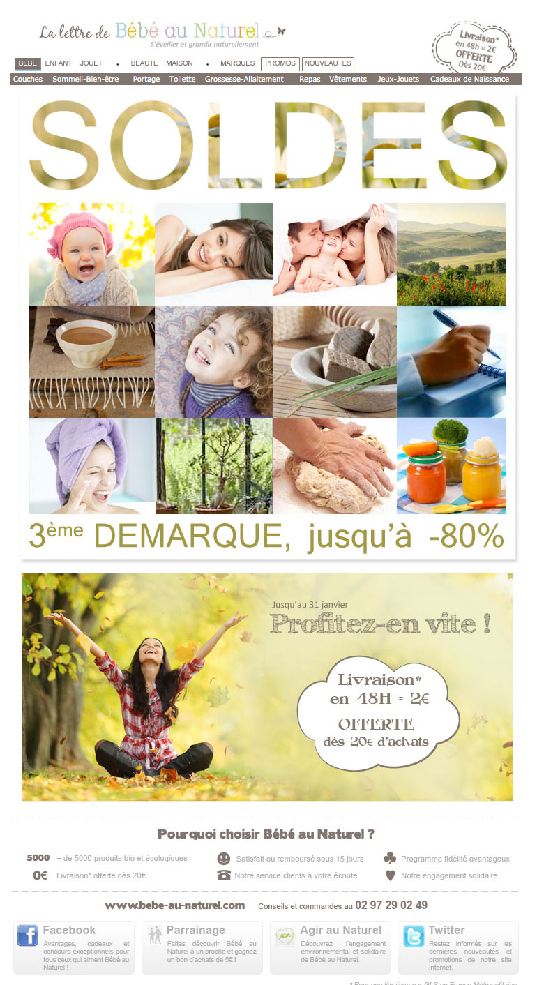 Newsletter Bébé au Naturel 230112