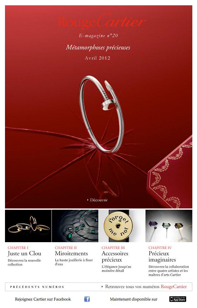Newsletter Rouge Cartier 180412