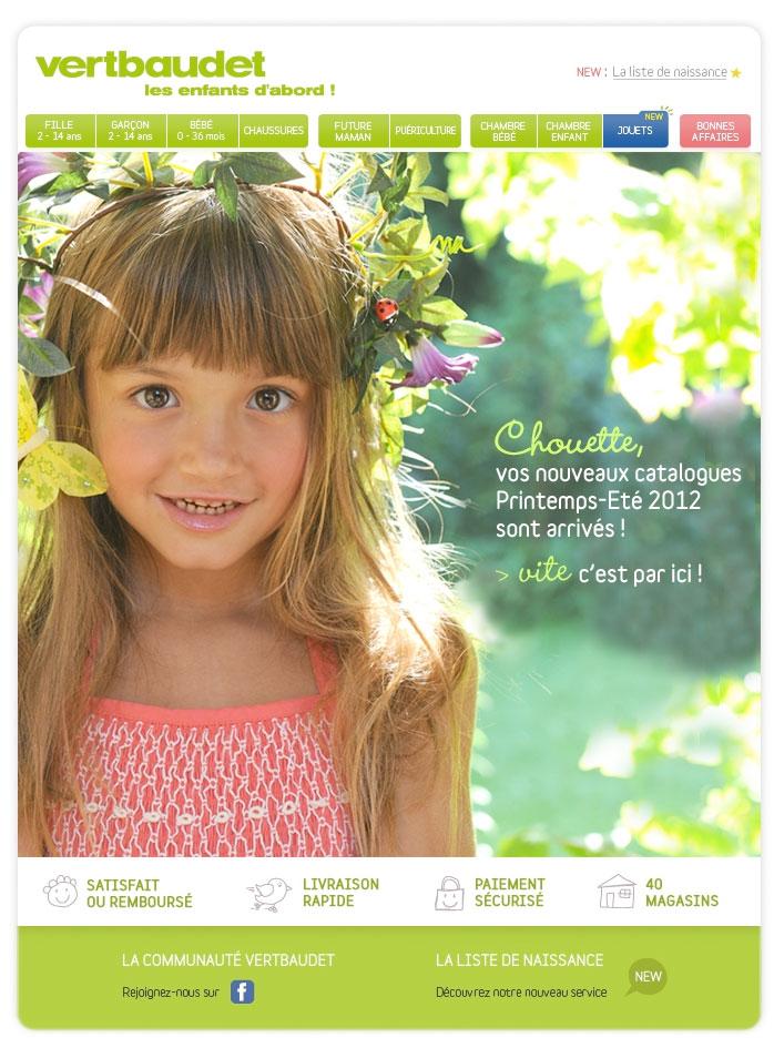 Newsletter Vertbaudet 230412 The Mailing Book
