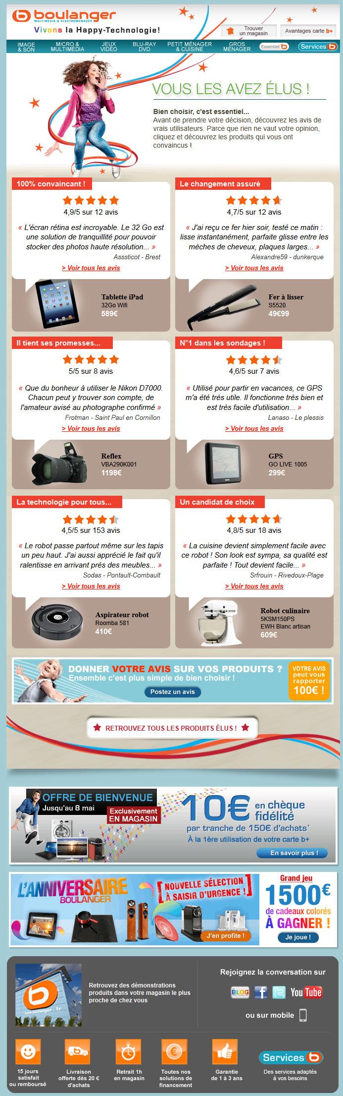 Newsletter Boulanger 05.05.2012