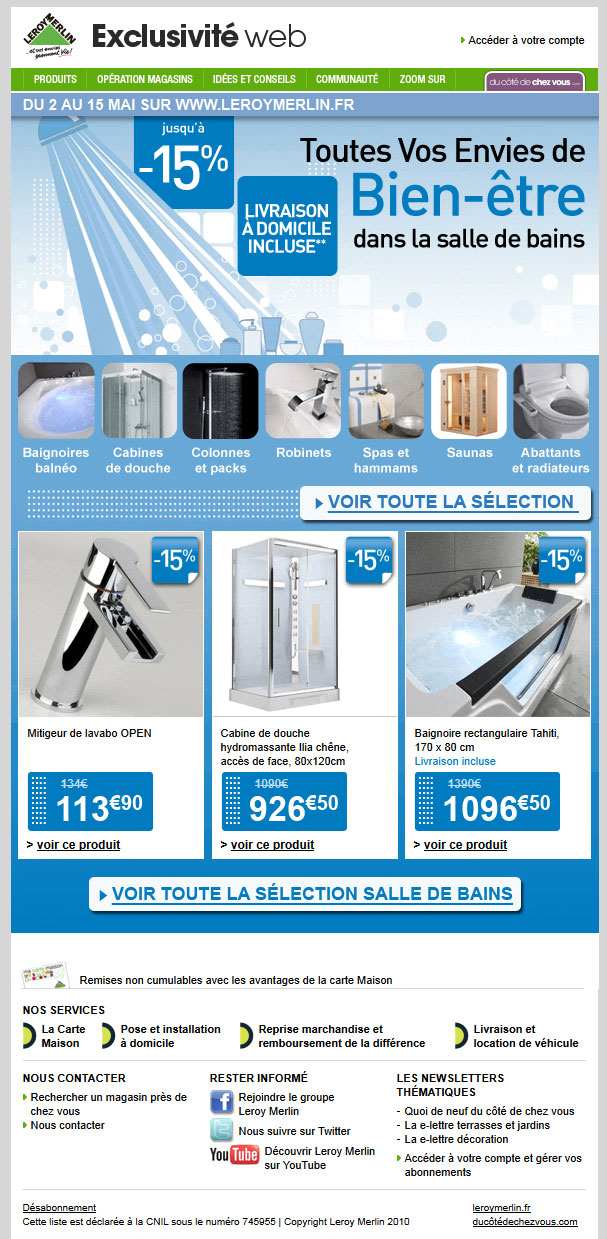 Newsletter Leroy Merlin 12.05.2012