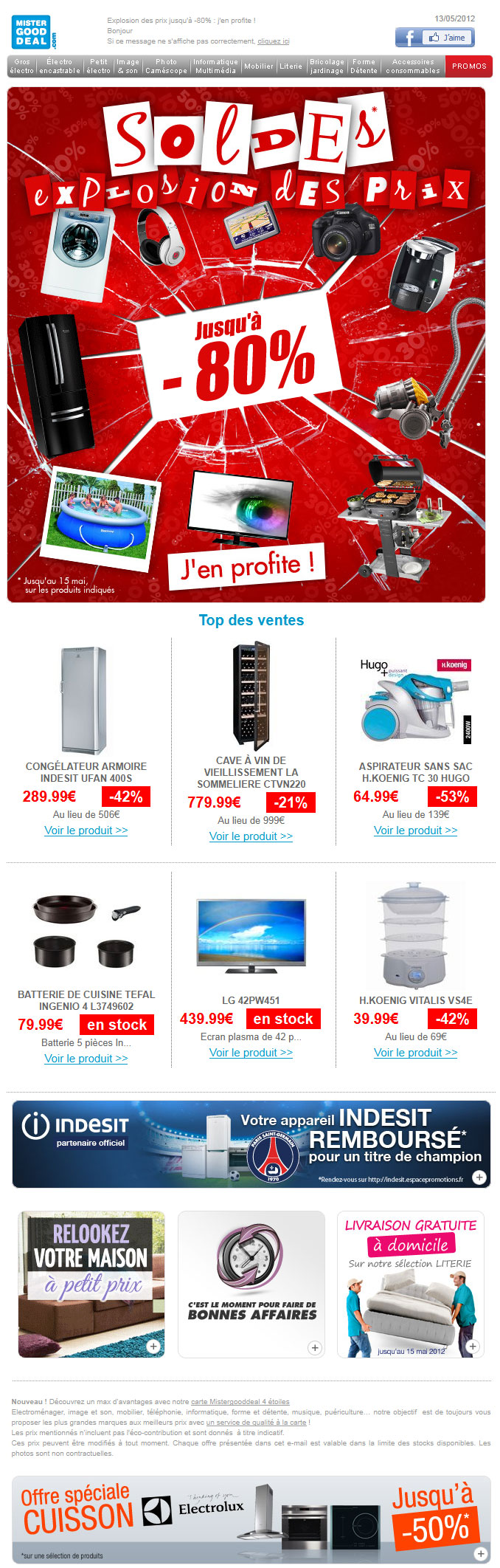 Newsletter Mister Good Deal 13.05.2012