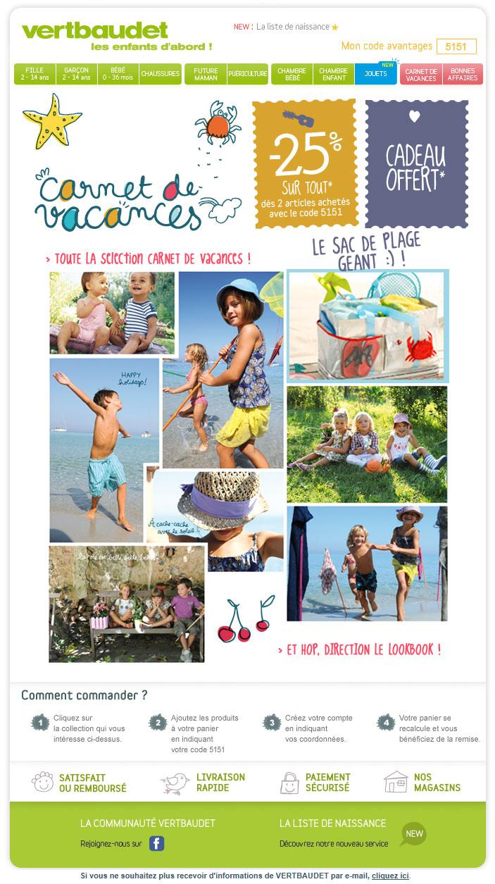 Newsletter Vertbaudet 10.05.2012