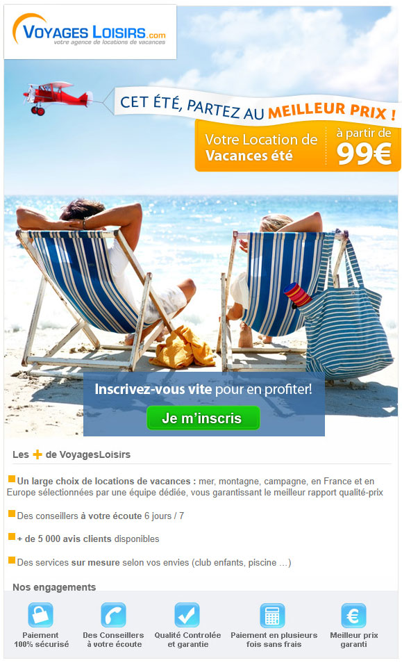 Newsletter Voyages Loisirs 04.05.2012