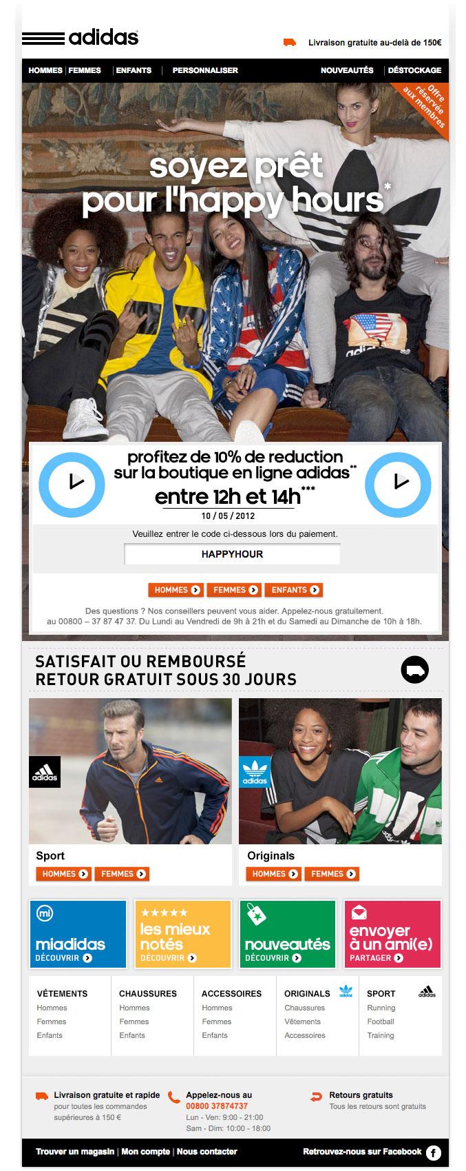 Newsletter Adidas 090512