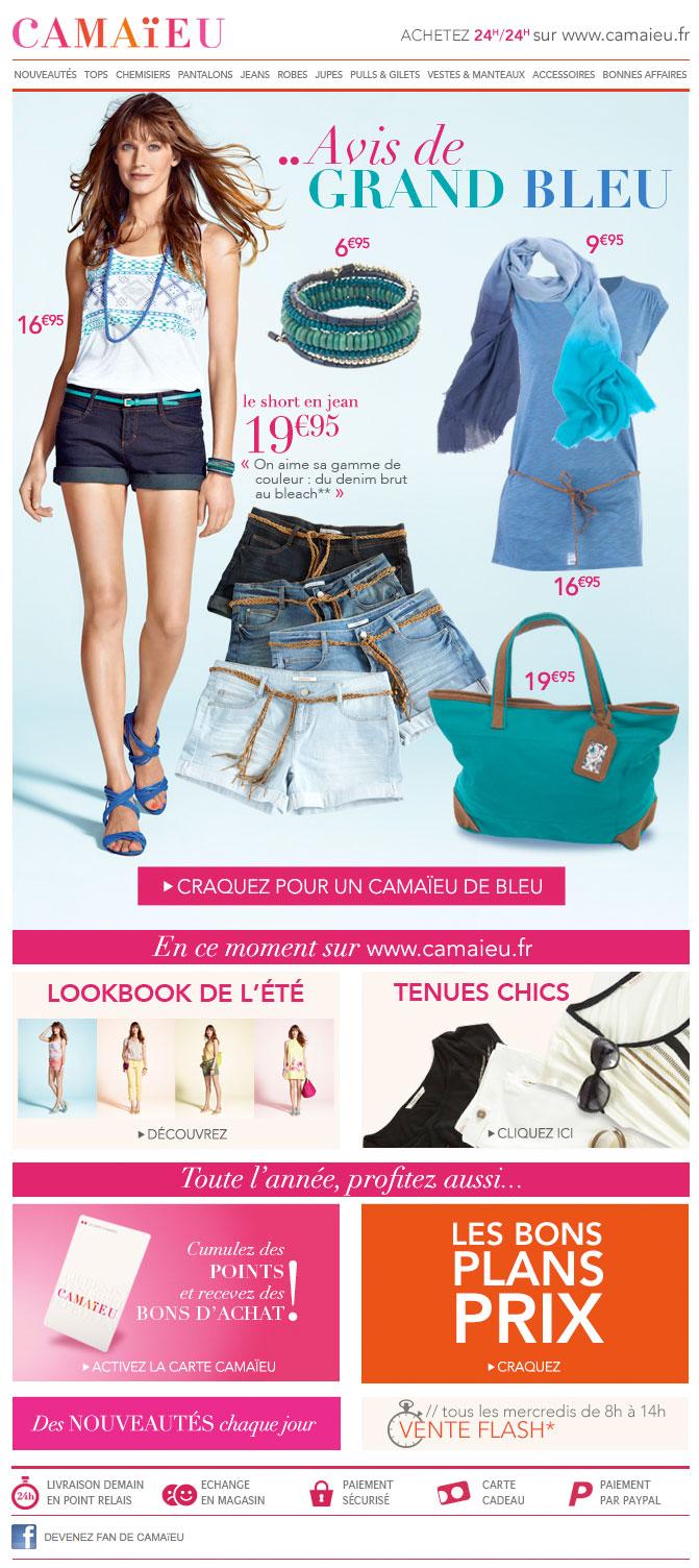Newsletter Camaieu 160512