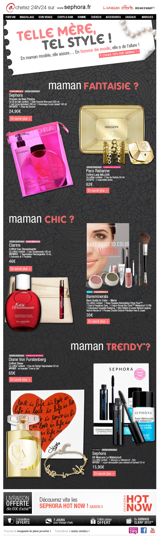 Newsletter Sephora 090512