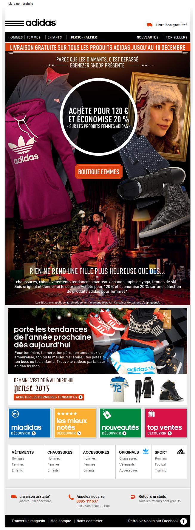 abajo falda rápido  adidas newsletter   Adidou