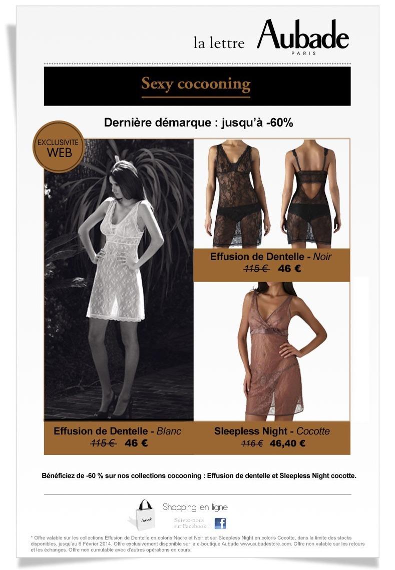 Galerie de newsletters aubade derni re d marque 60 for Aubade soldes 2014