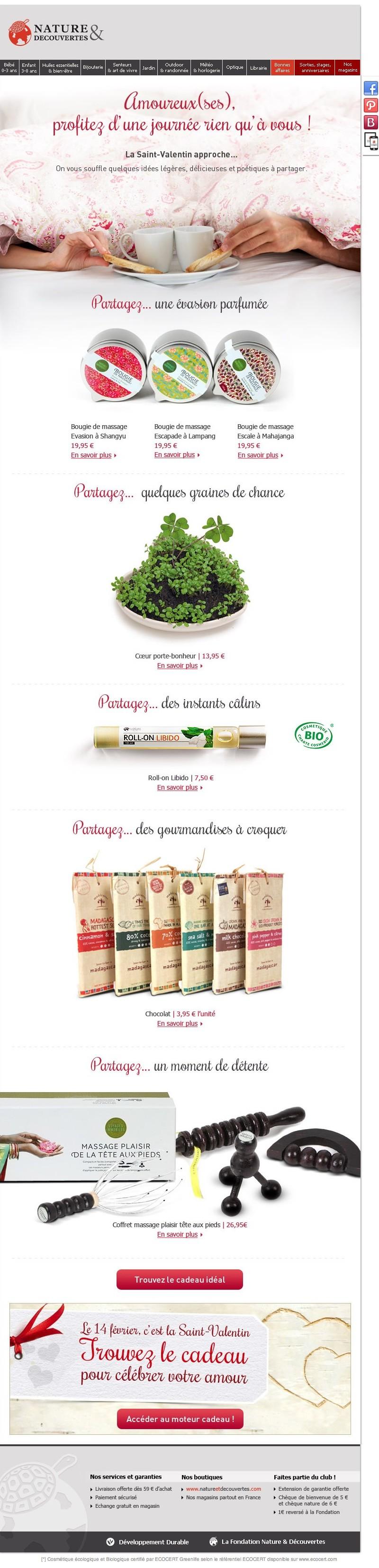 Galerie de newsletters de la marque the mailing book for Cuisine nature et decouverte