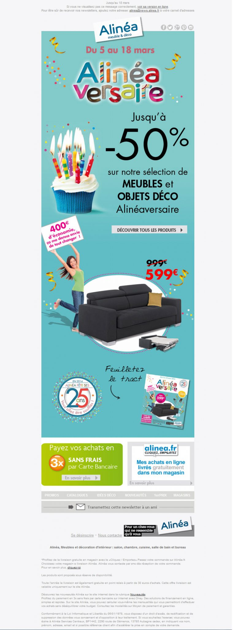galerie de newsletters alin a alineaversaire jusqu 39 50 sur une s lection meuble deco. Black Bedroom Furniture Sets. Home Design Ideas