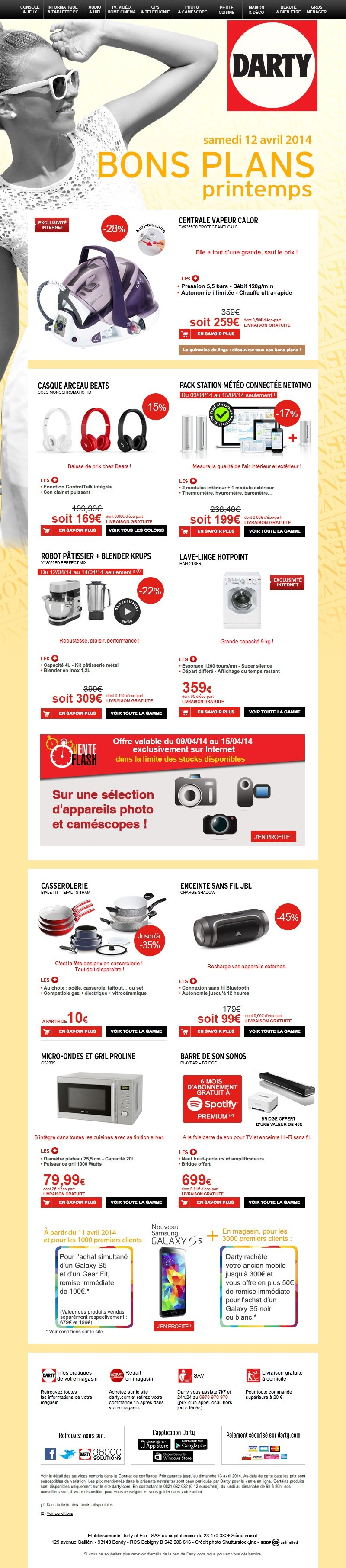 toutes les newsletters de la marque darty with karcher vitre darty. Black Bedroom Furniture Sets. Home Design Ideas