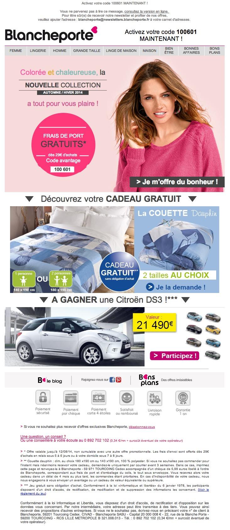 Galerie de newsletters blancheporte m mabrouk nouvelle collection nouveaux avantages - La blanche porte nouvelle collection ...