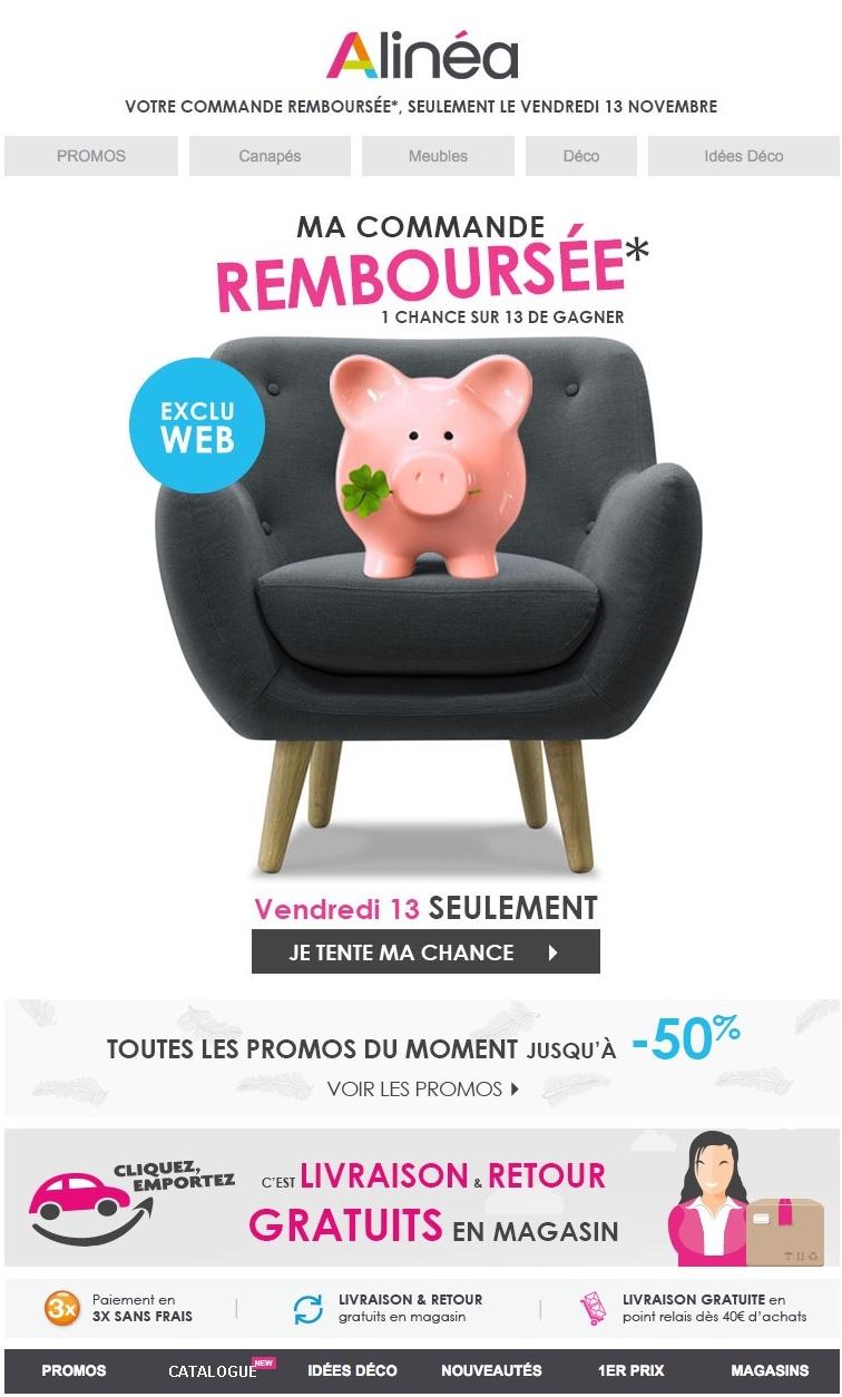 Stunning newsletter alinea du novembre with vente privee - Code promo venteprivee com frais de port ...