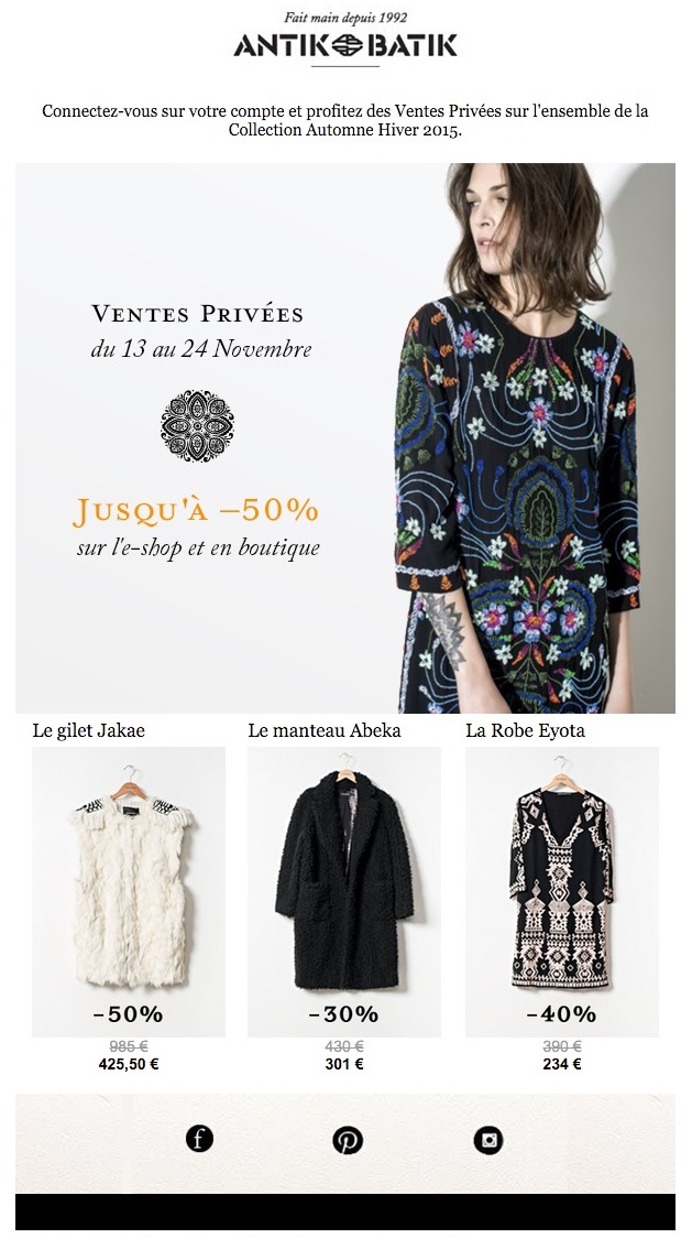 vente privee top 50