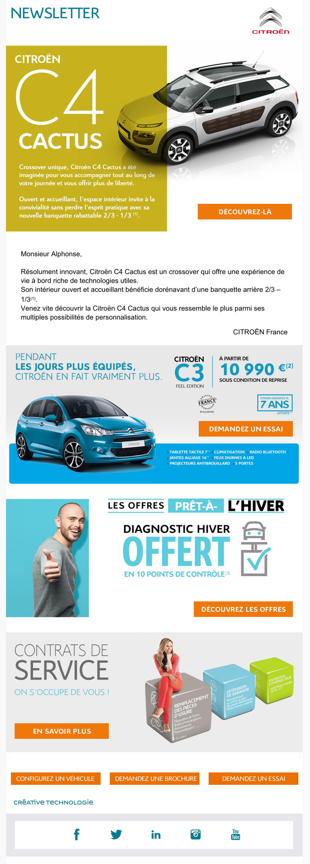 newsletter citroen du 18 novembre 2015