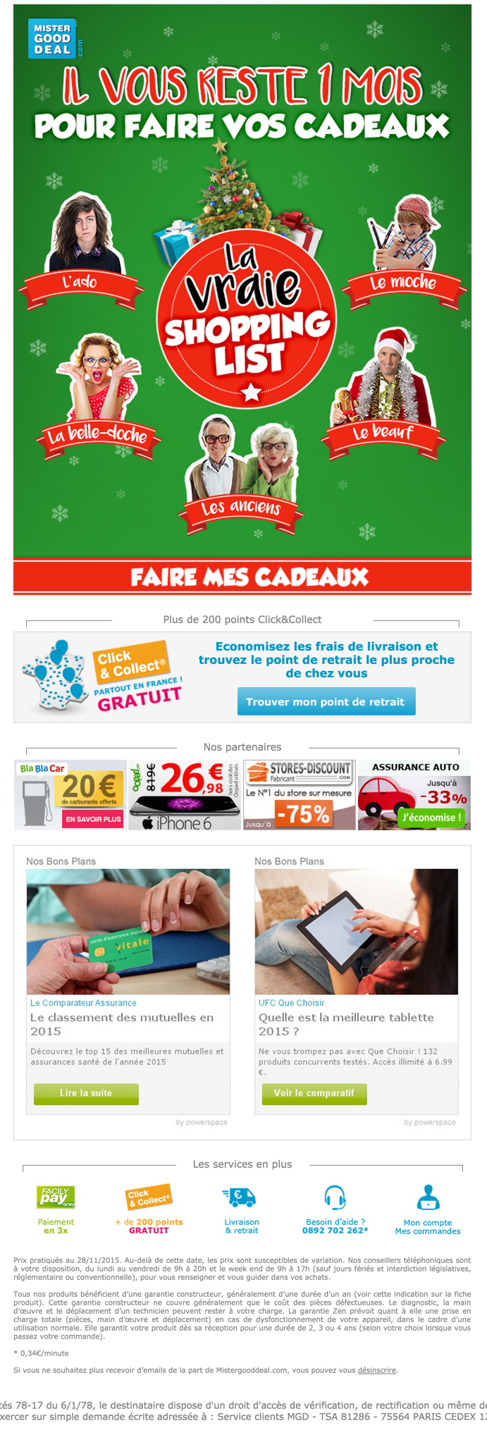 newsletter mister good deal du 24 novembre 2015