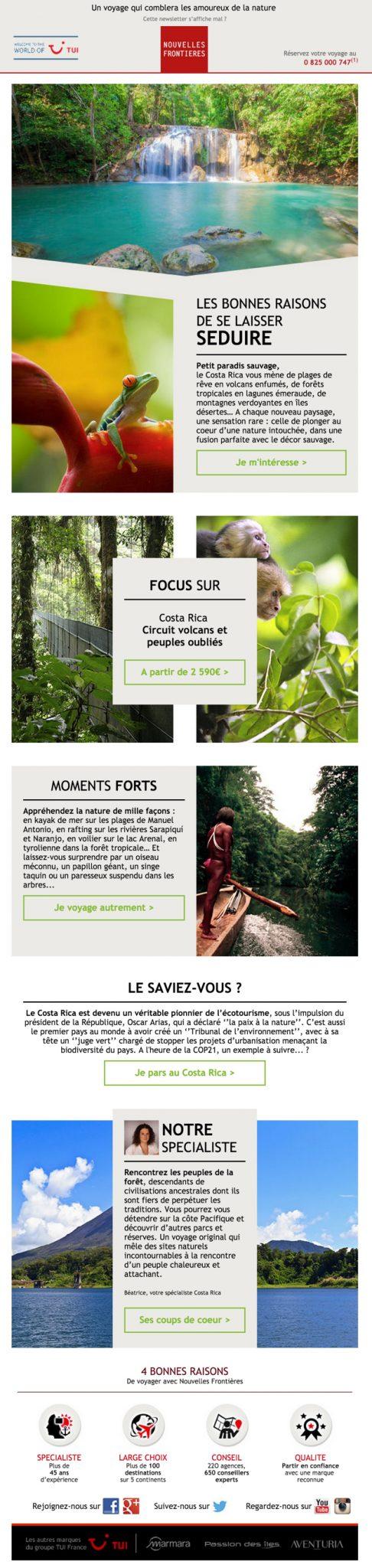 newsletter nouvelles frontieres du 27 novembre 2015