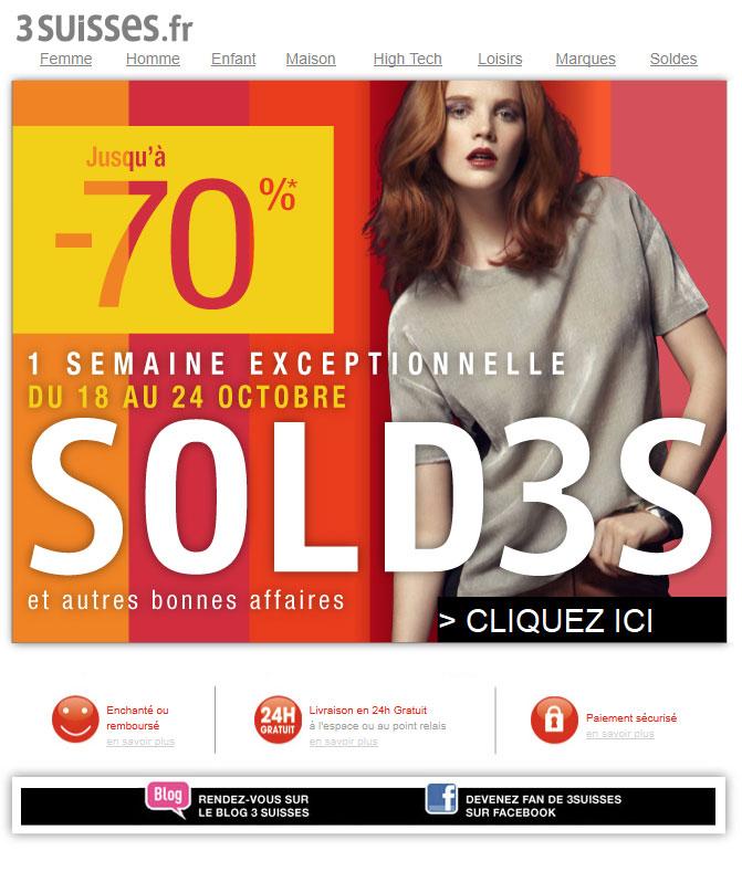 Newsletter 3 suisses 20.10.2011