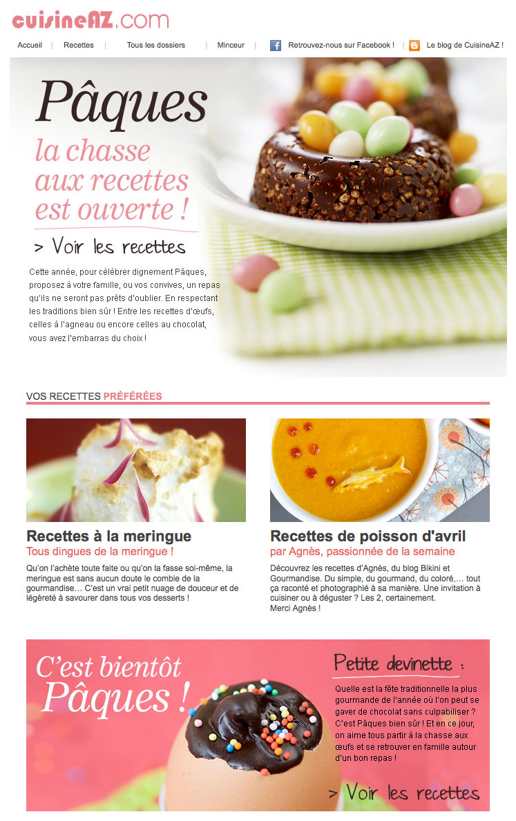Newsletter CuisineAz 290312