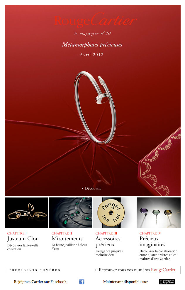Newsletter Rouge Cartier 180412