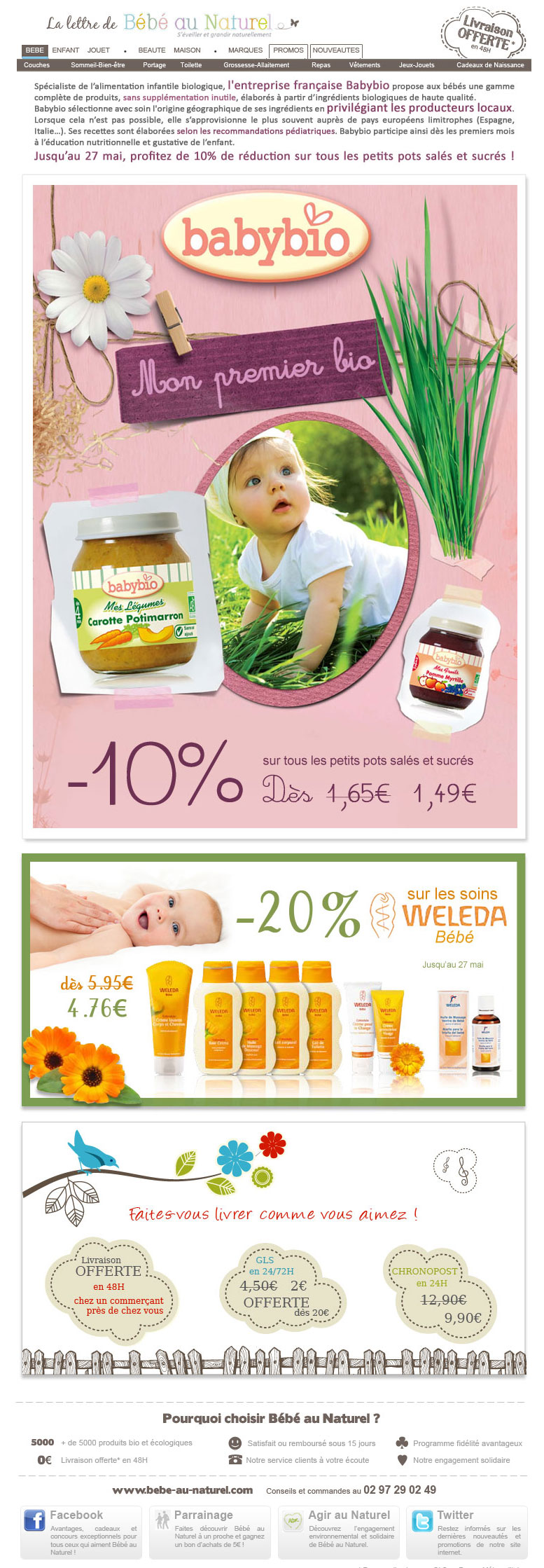 Newsletter Bébé au Naturel 09.05.2012