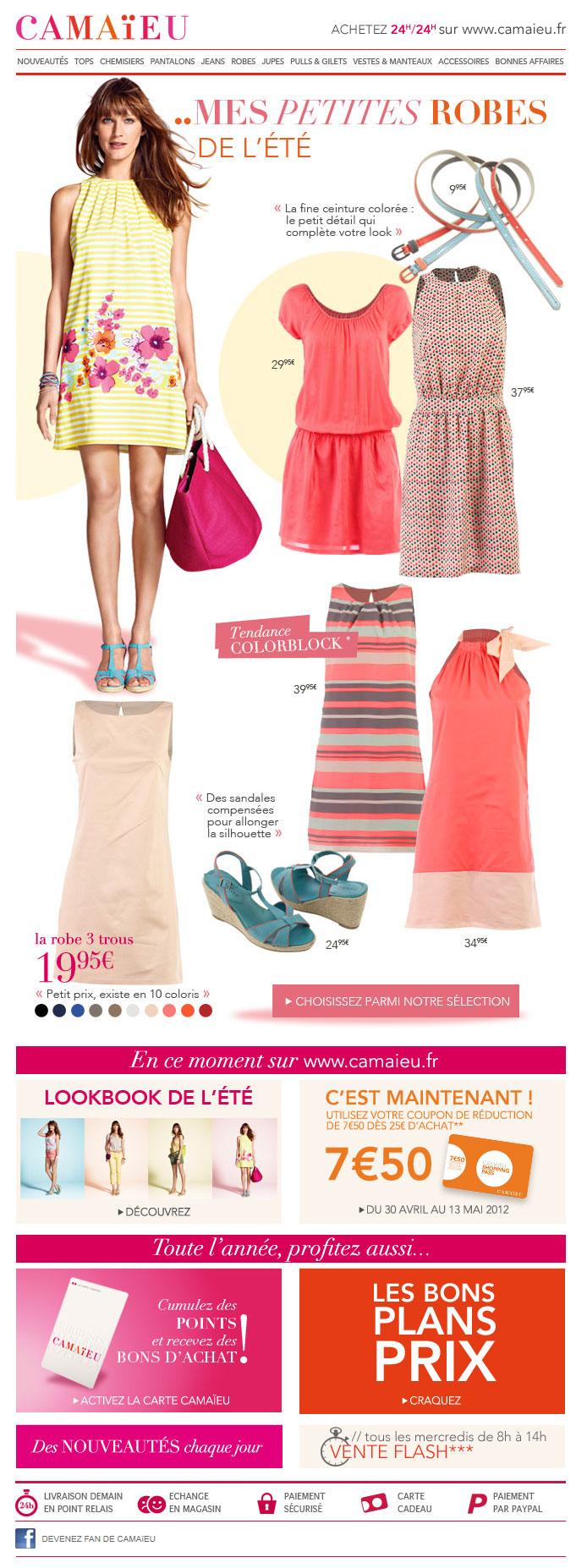 Newsletter Camaieu 09.05.2012