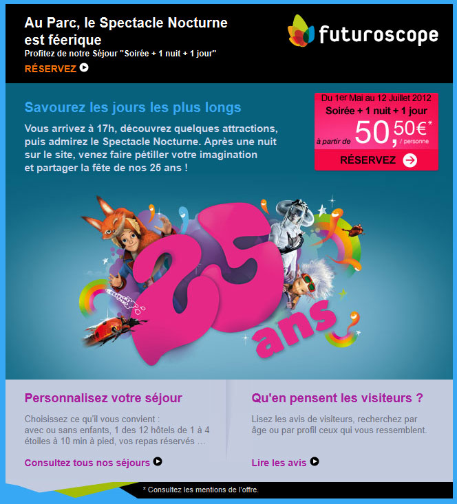 Newsletter Futuroscope 05.05.2012
