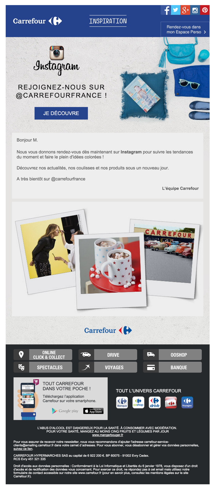 newsletter carrefour du 18 novembre 2015