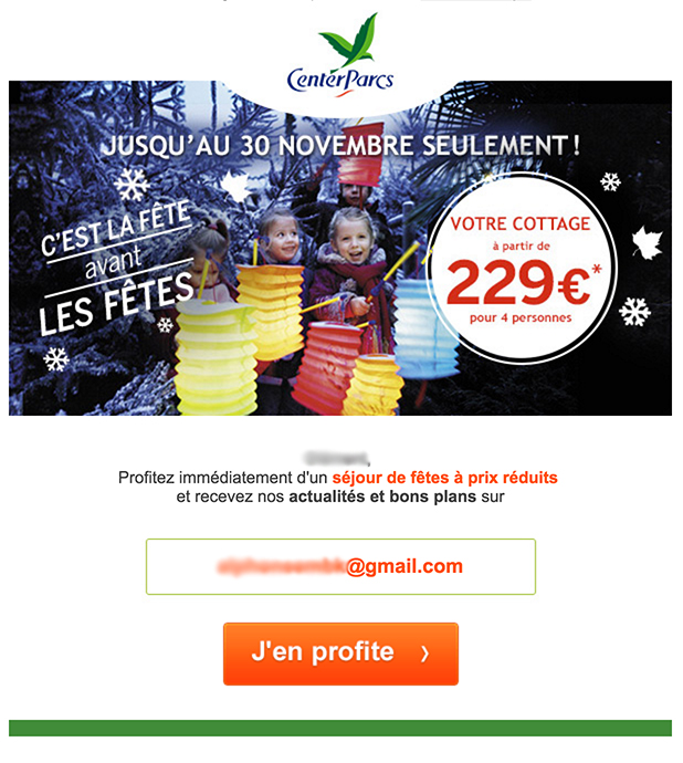newsletter center parcs du 17 novembre 2015