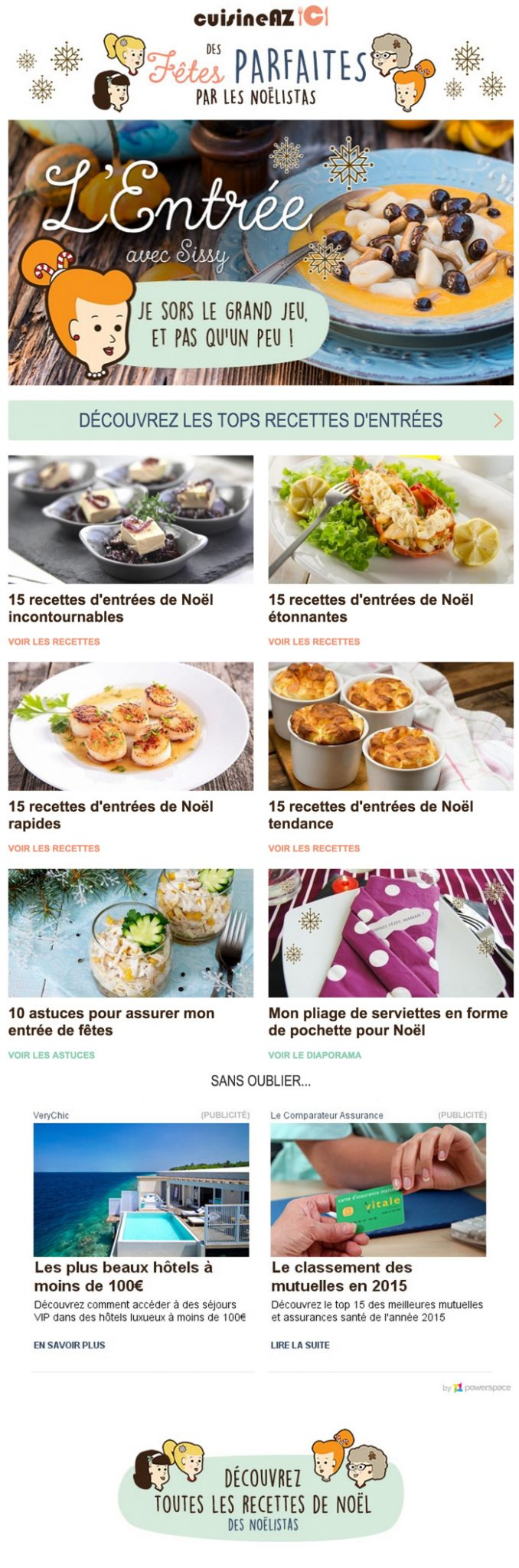 newsletter cuisine az du 18 novembre 2015
