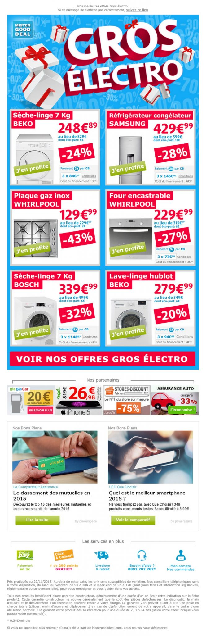 newsletter mister good deal du 21 novembre 2015