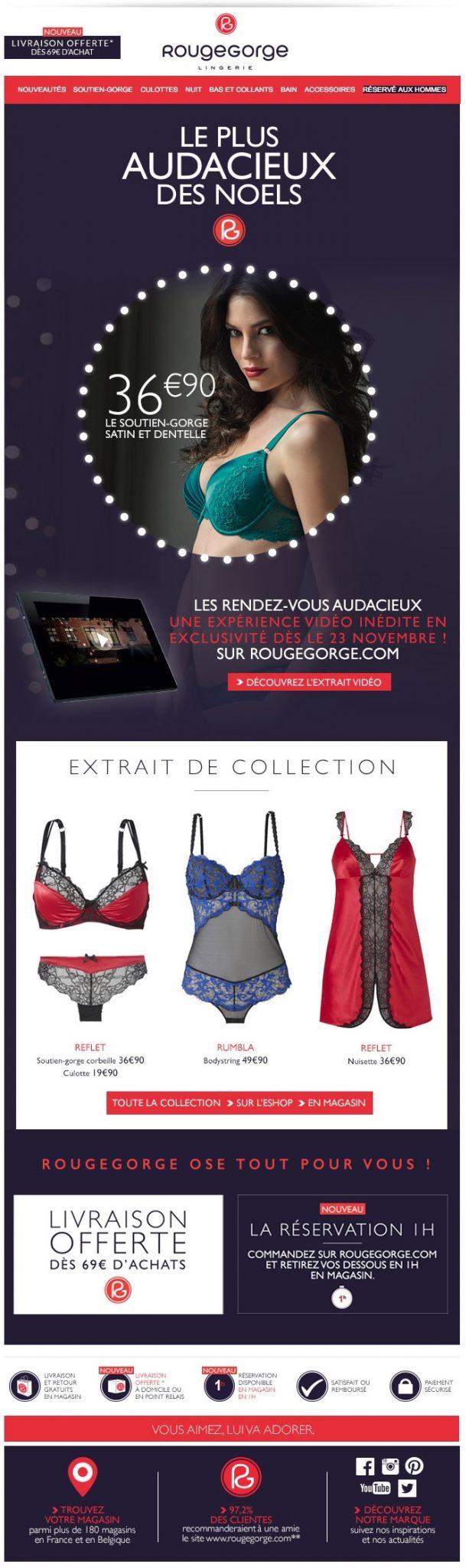 newsletter rouge gorge lingerie du 13novembre 2015
