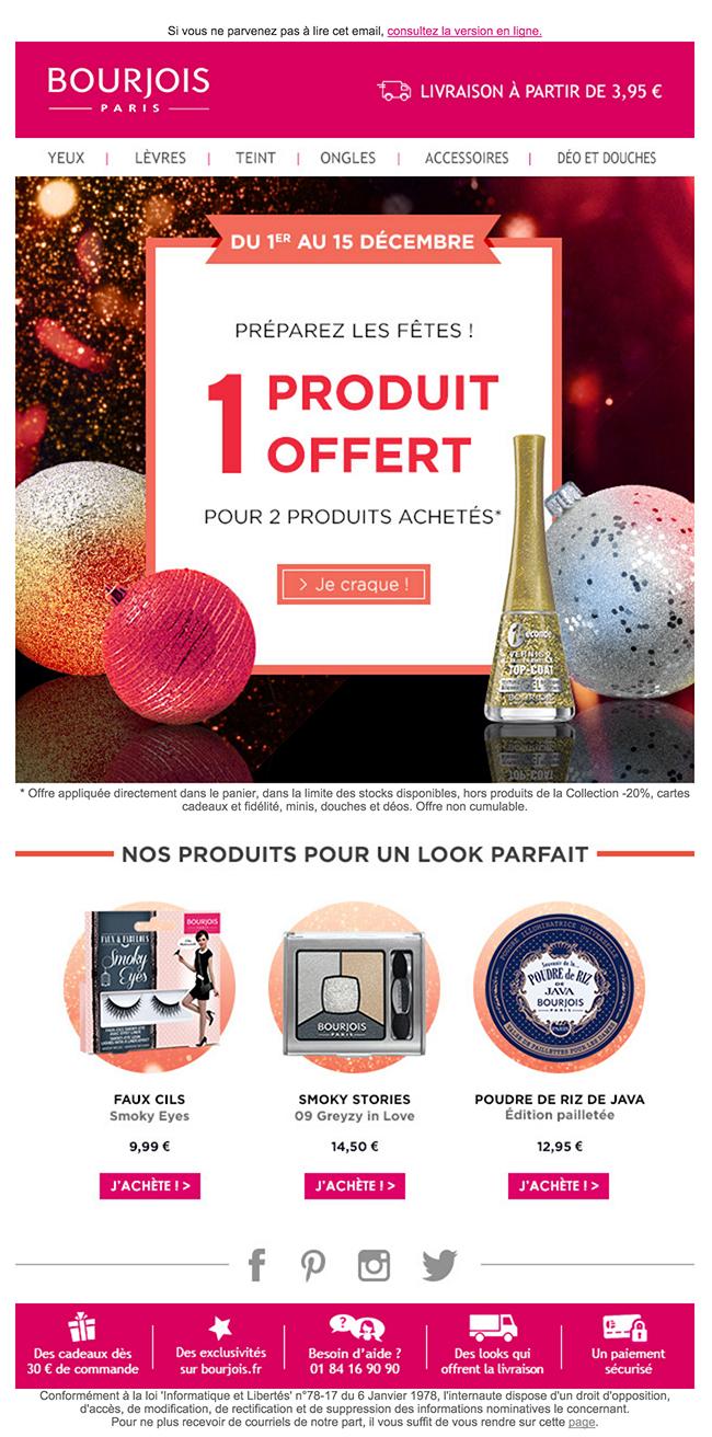 newsletter bourjois du 1 décembre 2015